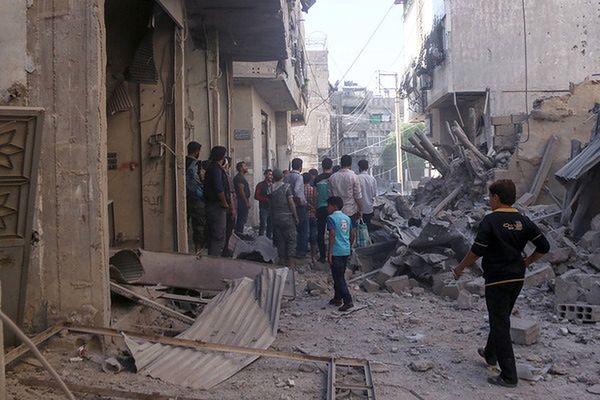 Syryjscy rebelianci opuścili przedmieście Damaszku