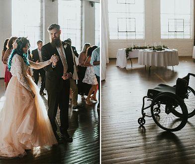 8 lat temu została sparaliżowana. Na ślub przyjechała na wózku, by do ołtarza pójść o własnych siłach