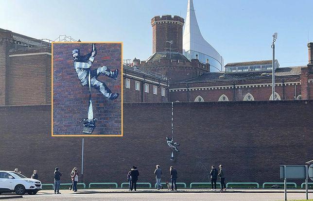 Mural na dawnym więzieniu Reading Gaol
