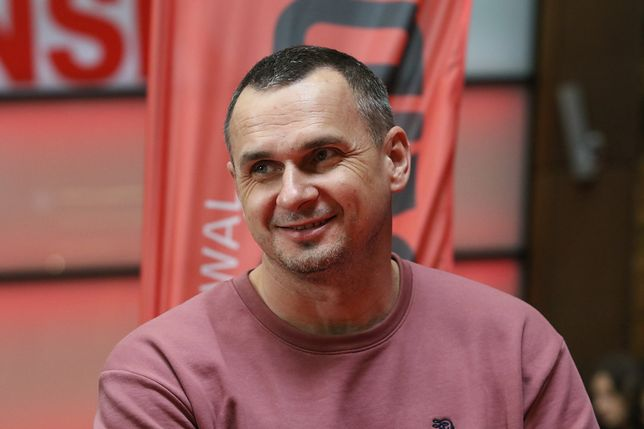Oleg Sencow podczas wizyty w Gdańsku.