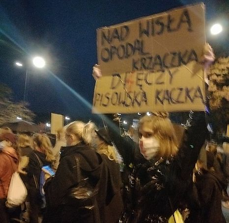Protestujący często odnosili się do Jarosława Kaczyńskiego