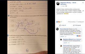 Zadanie z matematyki dla klas siódmych. Nie było łatwe