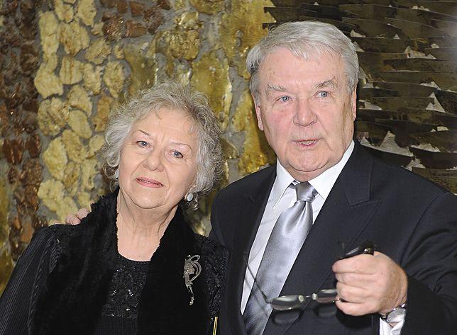Leonard Pietraszak z żoną Wandą, której syn aktora nie zaprosił na swój ślub
