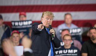 Donald Trump na wiecu w Janesville