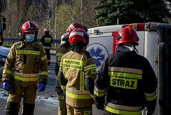 Wypadek busa pod Lublinem na trasie S12. Wiele osób rannych