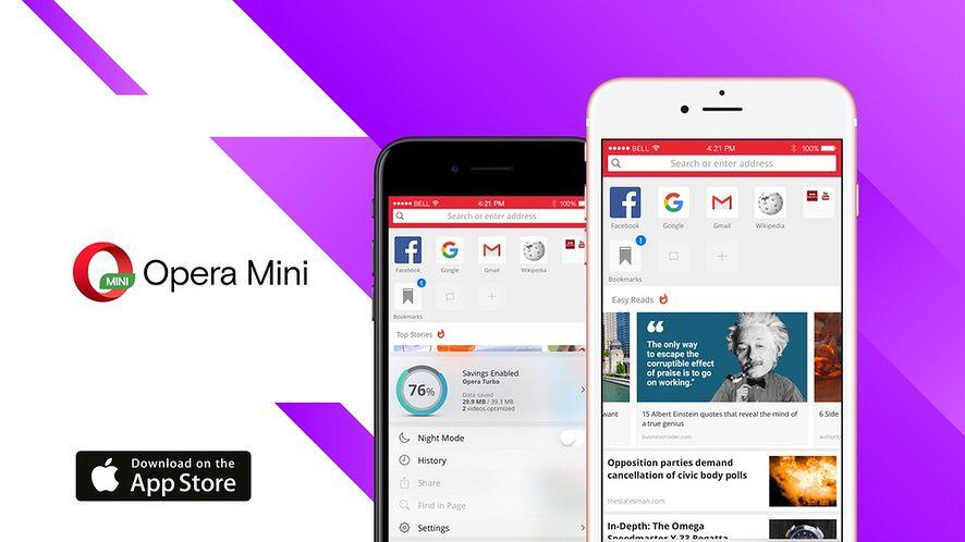 Nowa Opera Mini gotowa dla iOS-a specjalnie z myślą o iPhonie 8