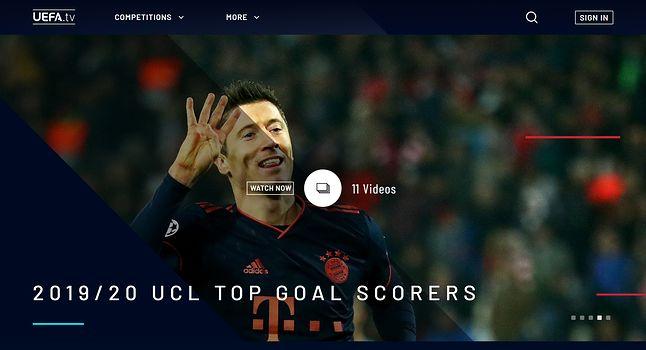 Tak wygląda serwis UEFA.tv w przeglądarce, fot. Jakub Krawczyński