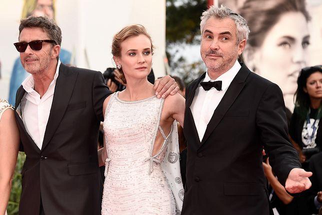 Paweł Pawlikowski, Diane Kruger i Alfonso Cuaron, Wenecja 2015.
