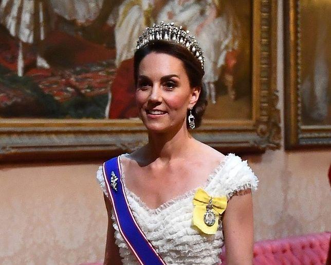 Księżna Kate włożyła tiarę Lover's Knot na spotkanie z Donaldem Trumpem