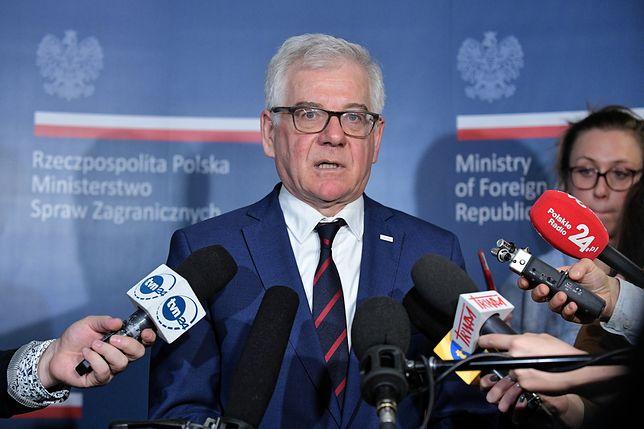 Jacek Czaputowicz twierdzi, że MSZ nie chce podważać wniosku Zbigniewa Ziobry