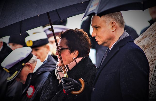 Andrzej Duda podczas uroczystości rocznicowych w Pucku
