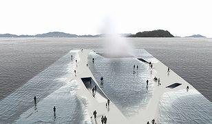 Chodzenie po wodzie jednak jest możliwe? Ten pawilon pozwoliłby tego doświadczyć
