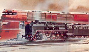 Breitspurbahn - porównanie wielkości ze zwykłą lokomotywą