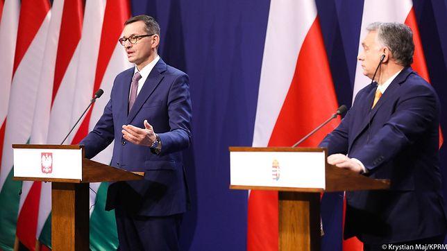 Premier Mateusz Morawiecki oraz premier Węgier Viktor Orban