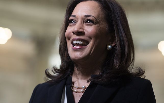 UNITED STATES - JUNE 24: Sen. Kamala Harris, D-Calif., is seen after an interview in Russell Building on Wednesday, June 24, 2020. (Photo By Tom Williams/CQ-Roll Call, Inc via Getty Images)