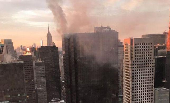Płonie budynek Trump Tower w Nowym Jorku