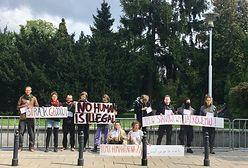 Warszawa. Głodówka na Wiejskiej. Solidarni z uchodźcami na granicy