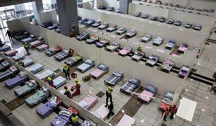 Szpital polowy przygotowywany w centrum konferencyjnym w mieście Wuhan, ognisku koronawirusa