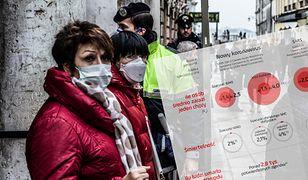 Koronawirus we Włoszech. Ludzie w maseczkach ochronnych w Wenecji, 23.02.2020 r.
