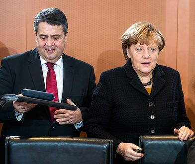 Sigmar Gabriel i Angela Merkel.