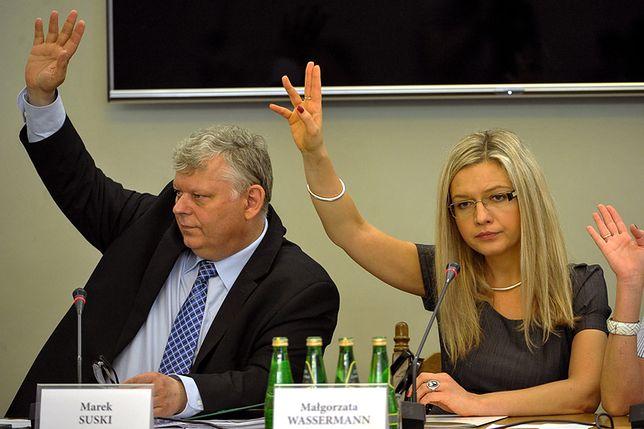 Małgorzata Wassermann na posiedzeniu komisji ds. Amber Gold