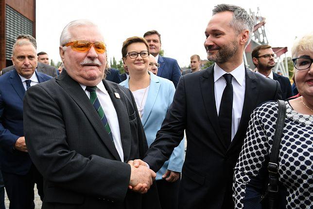 38. rocznica podpisania porozumień sierpniowych w Gdańsku. Jest Lech Wałęsa z synem