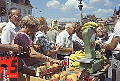 Wolna Polska na bazarach