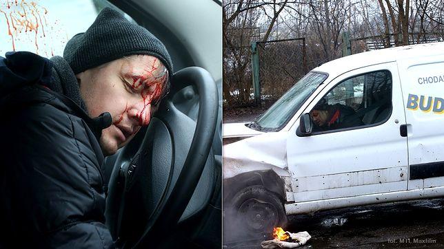 Jeden z głównych bohaterów serialu będzie miał wypadek  samochodowy.