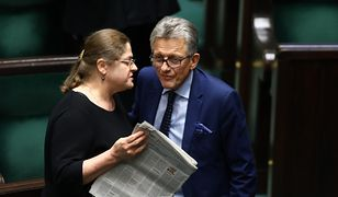 Sędziowie Trybunału Konstytucyjnego - Krystyna Pawłowicz oraz Stanisław Piotrowicz (dawniej posłowie PiS) - zdj. arch.