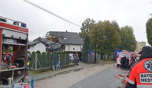 Wybuch gazu w domu jednorodzinnym, jedna osoba w stanie ciężkim
