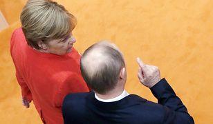 Trudna rozmowa Merkel z Putinem. Ta mina mówi wszystko