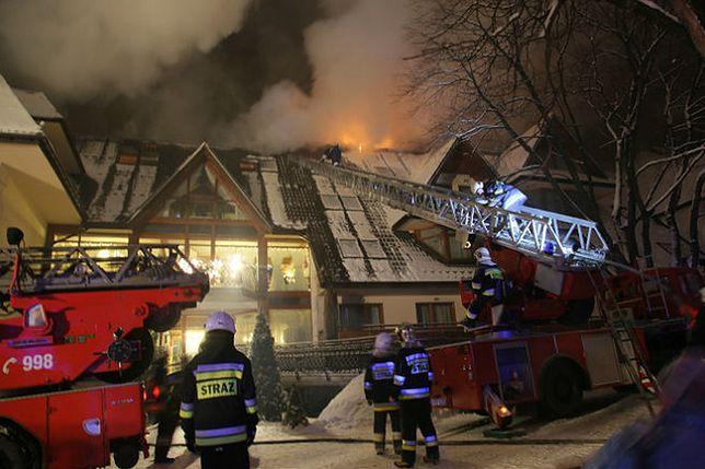 """Pożar hotelu """"Belvedere"""" w Zakopanem. Ewakuowano ponad 400 osób"""