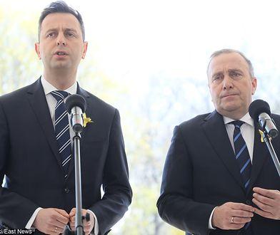 Strajk nauczycieli 2019. Koalicja Europejska deklarację dla oświaty. Na zdjęciu (od lewej): Władysław Kosiniak-Kamysz i Grzegorz Schetyna