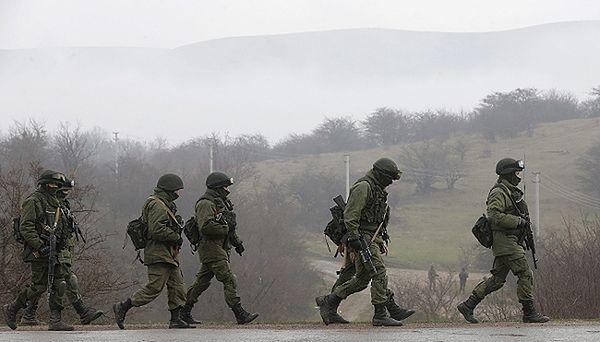 Żołnierze w okolicy Symferopola