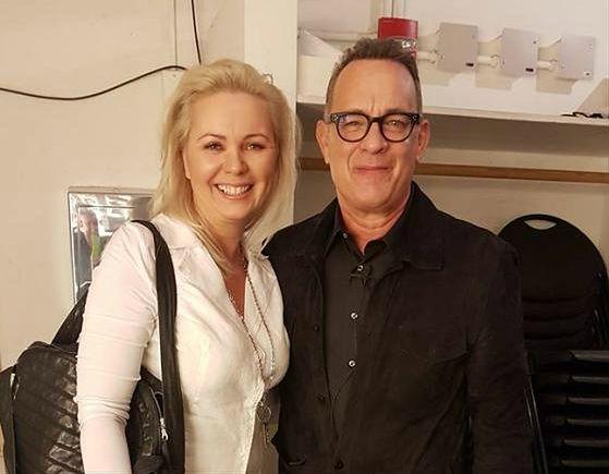 Tom Hanks z Moniką Jaskólską, pomysłodawczynią akcji