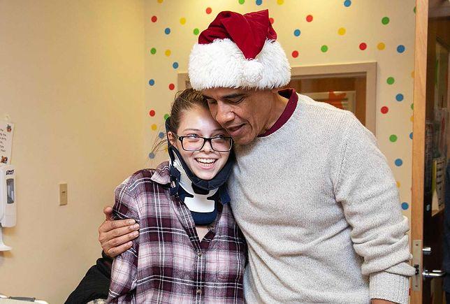 Barack Obama odwiedził pacjentów szpitala w Waszyngtonie