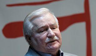 Prezydent Lech Wałęsa na otwarciu Komitetu Obywatelskiego w Gdańsku