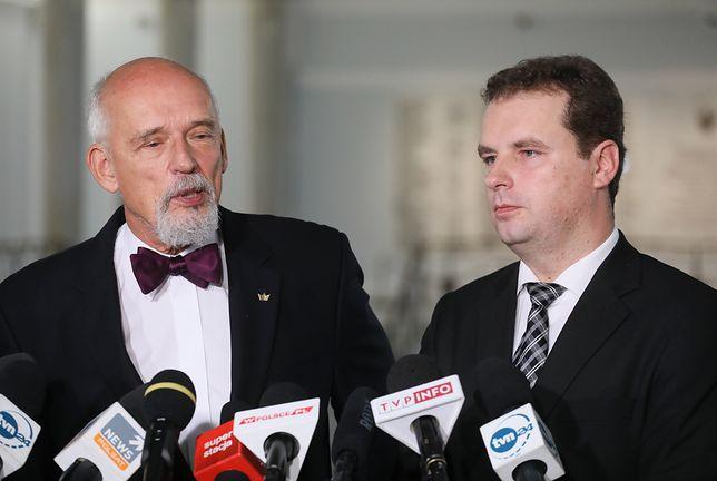 Jacek Wilk ogłosił swoją decyzję na wspólnej konferencji prasowej z Januszem Korwin-Mikke