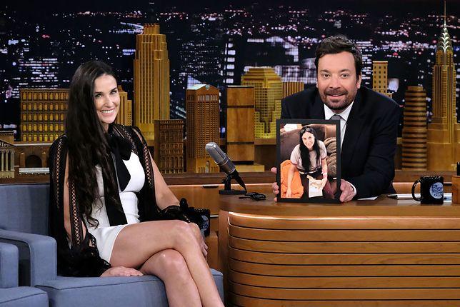 Demi Moore i Jimmy Fallon