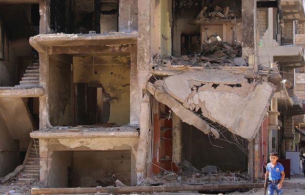 Zniszczone miasto Qamishli w płn.-wsch. Syrii
