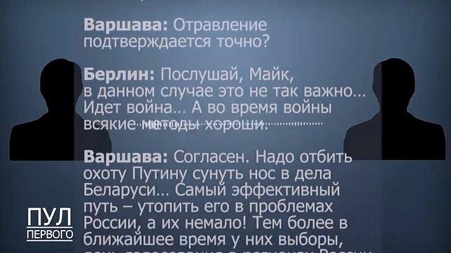 """Białoruska telewizja opublikowała rozmowę """"Warszawy"""" i """"Berlina"""". Chodzi o otrucie Nawalnego"""