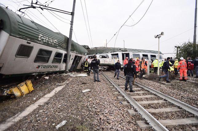 Tragedia we Włoszech, wykoleił się pociąg koło Mediolanu. Cztery osoby nie żyją, ponad 100 jest rannych