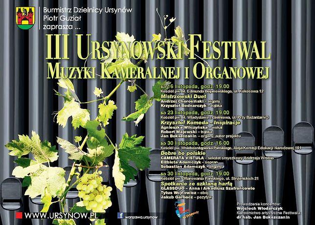 Za darmo: III Ursynowski Festiwal Muzyki Kameralnej