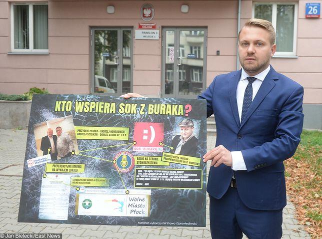 """""""Sok z Buraka"""" wynajął bez przetargu lokal w Płocku? Jacek Ozdoba zawiadamia prokuraturę"""