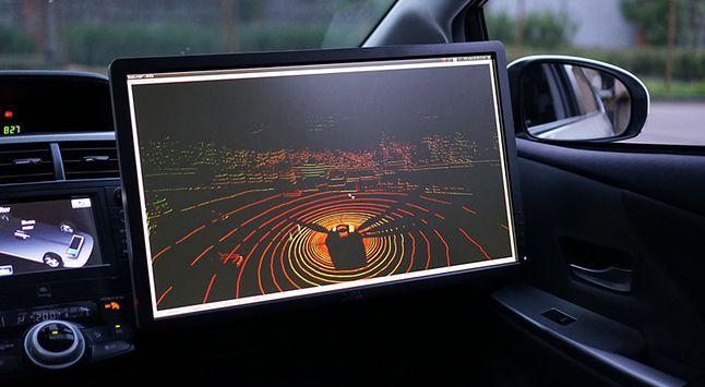 Mapa przestrzeni z lidara w aucie Yandex.Taxi (źródło: yandex)