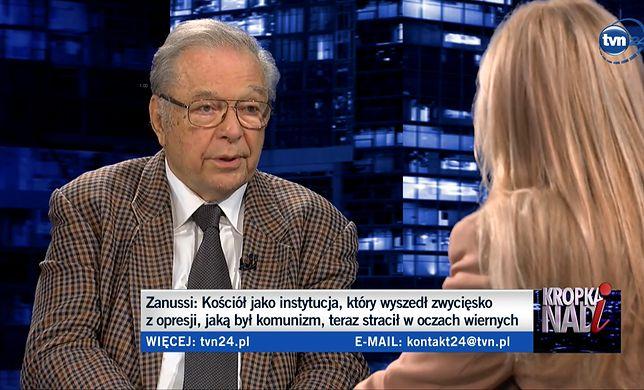 """Krzysztof Zanussi w programie TVN24 """"Kropka nad i"""" mówił o Kościele i LGBT"""