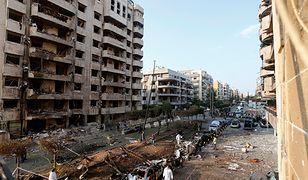 Miejsce zamachu w Bejrucie