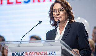 Wybory parlamentarne 2019. Małgorzata Kidawa-Błońska skomentowała swoja słabą rozpoznawalność
