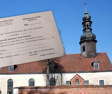 """Dane osobowe na """"dobrowolnej daninie kościelnej"""" zaniepokoiły parafian z Kościelnika"""