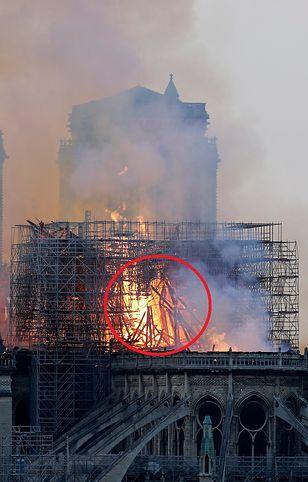 Kobieta twierdzi, że w na zdjęciach płonącej katedry Notre-Dame ujrzała Jezusa